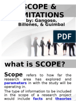 RESEARCH PAPER - SCOPE & LIMITATIONS (Reporting).ppt
