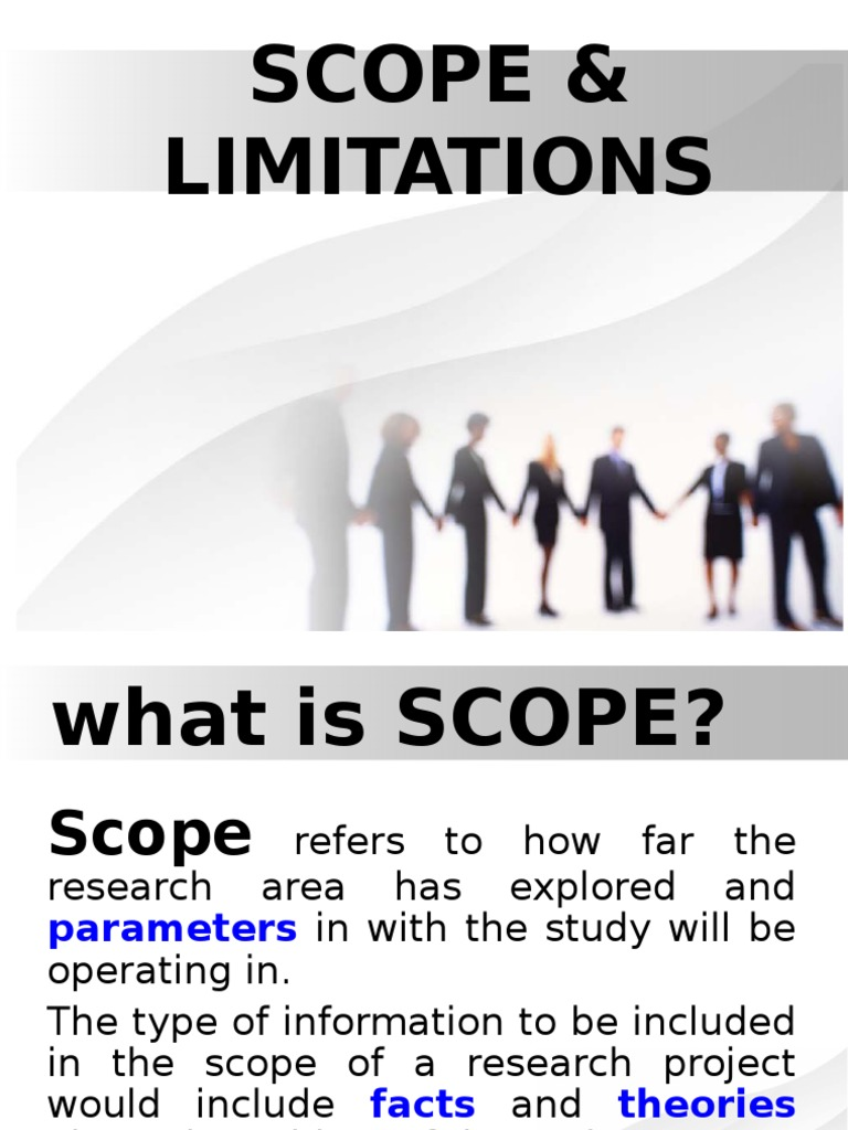 Writing scope and limitations for a research paper
