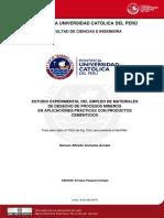 2010 Estudio Experimental Del Empleo de Materiales de Desecho de Procesos Mineros en Aplicaciones Practicas Con Productos Cementicios