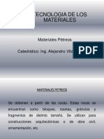 Cuarta Clase 1 - Materiales Petreos. Pptx