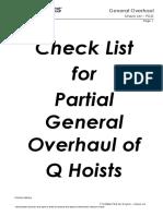 Partial GO Checklist