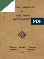 1862 a Megohmmeter