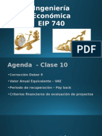 Clase 9 - VAE y Pay Back