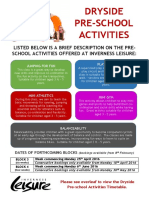 160126 Dryside Pre School Activities
