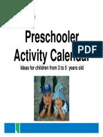 Ps 7643 Preschooler Activity Calendar