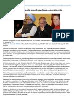Indianexpress.com-Govt Set to Consult Public on All New Laws amendments