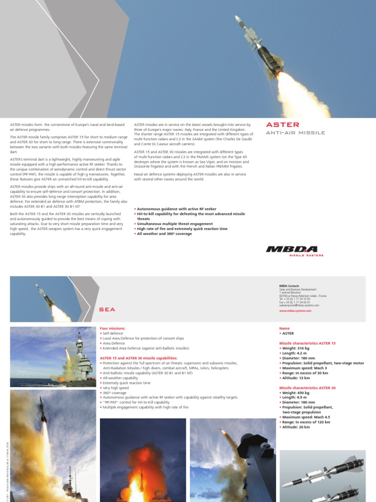 ASTER1 | Military Equipment | Rockets And Missiles