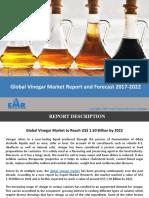 Vinegar Market Report, Trends and Forecast 2017-2022