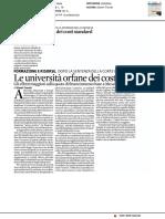 Le Università orfane dei costi standard - Il Sole 24 Ore del 22 maggio 2017