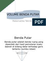 Volume Benda Putar