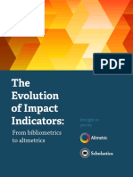 Evolution of Impact Indicators