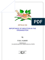 Importance of Induction