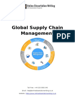 Sample on Global Supply Chain Management