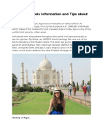 Tour and Travels Information and Tips About Agra- PDF