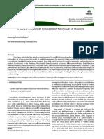 Conflict Management Construction PDF