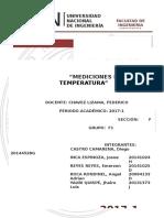 Calibracion de Temperatura