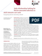 The efficacy of daily chlorhexidine bathing for preventing healthcare-associated infections in adult intensive care units