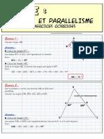 Angles et parallélisme - Exercices corrigés