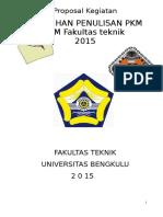 Proposal Kegiatan BEM FT PKM Pelatihan