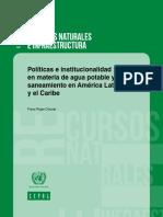 Políticas e Institucionalidad en Materia de Agua Potable y Saneamiento Cepal