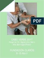 Viaje Humanitario Cabo Verde 2017 realizado por Fundación Clarós.