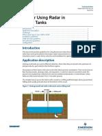 Guidelines for Using Radar in UG Tank