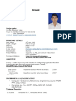 Resume New 2016 Sanjay Yadav