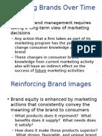 Managing Brands Overtime