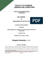 Value Management in Nigerian Construction