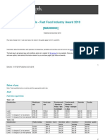 Fast Food Industry Award Pay Guide