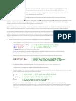 DesignScript Summary User Manual