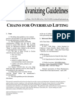 Chains for Overhead Lifting (Galvanizing Guidelines, 2004 Feb)