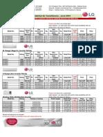 LG Trade Price List June 2016