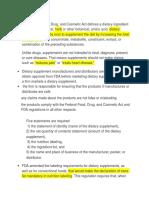 Dietry Fiber FDA