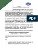 Resultados Esperados ISO9001 ISO-IAF