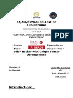 Seminar Synopsis
