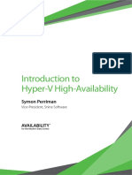 Introduction to Hyper v High Availability