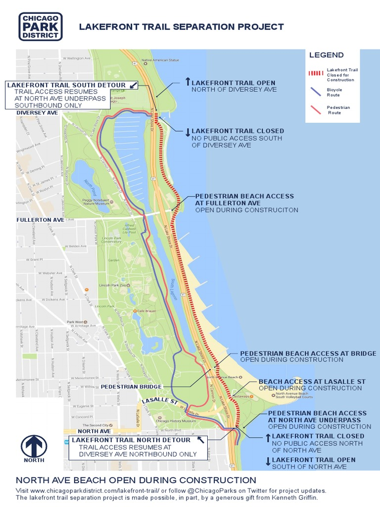 Lakefront Trail Detour | Trail | Streets And Roads on