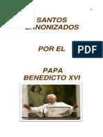 Santos Canonizado Por Benedicto Xvipdf