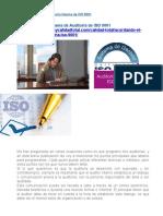 Actividades de Una Auditoria Interna de ISO 9001