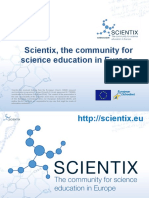 How do we inspire students to study science through the Scientix project?