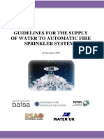 Guidelines for the Supply of Water to Automatic Fire Sprinkler Sys