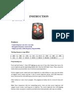 REMOTE CONTROL THLEKONTROL QN QINUO QN-RD168B-W Manual.pdf