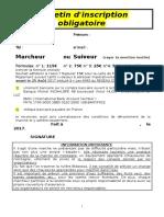 Bulletin d'Inscription Obligatoire v2