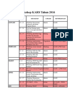 Agenda Workshop KARS Tahun 2016