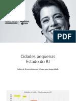 Índice de Desenvolvimento Urbano para a Longevidade - Cidades Pequenas do Estado do Rio de Janeiro