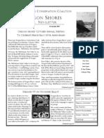 Fall 2007 Driftline Newsletter Oregon Shores Conservation Coalition
