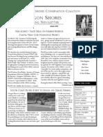 Spring 2008 Driftline Newsletter Oregon Shores Conservation Coalition