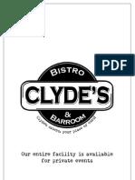 Clyde's Menu