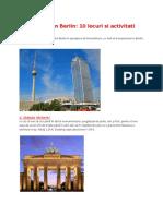 Ce poti face in Berlin